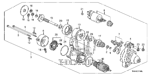 2010 fit SPORTN(NV,SUZUKA PLAN 5 DOOR 5MT STARTER MOTOR (DENSO) diagram