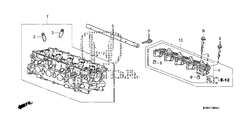 2012 fit FIT(SAYAMA PLANT) 5 DOOR 5MT CYLINDER HEAD diagram