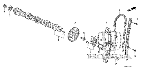 2009 fit SPORTN(SAYAMA PLANT) 5 DOOR 5MT CAMSHAFT - CAM CHAIN diagram