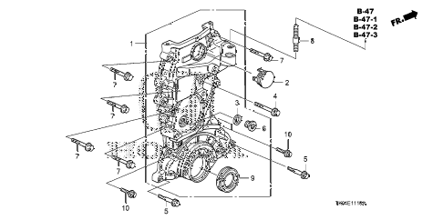 2011 fit SPORT(SUZUKA PLANT) 5 DOOR 5MT CHAIN CASE diagram