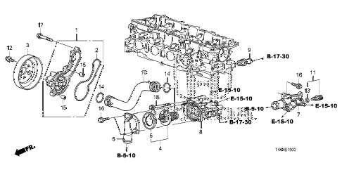 2009 fit SPORT(SUZUKA PLANT) 5 DOOR 5MT WATER PUMP diagram