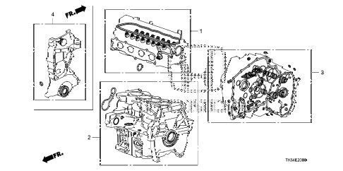 2010 fit SPORTN(SUZUKA PLANT) 5 DOOR 5MT GASKET KIT diagram