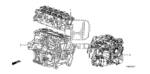 2012 fit SPORT(SUZUKA PLANT) 5 DOOR 5MT ENGINE ASSY. - TRANSMISSION ASSY. diagram