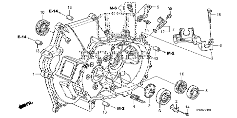 2010 fit SPORTN(NV,SAYAMA PLAN 5 DOOR 5MT MT CLUTCH CASE diagram