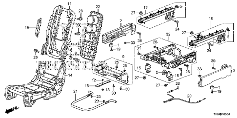 honda online store 2011 odyssey middle seat components center 2011 odyssey exl 5 door 5at middle seat components center diagram