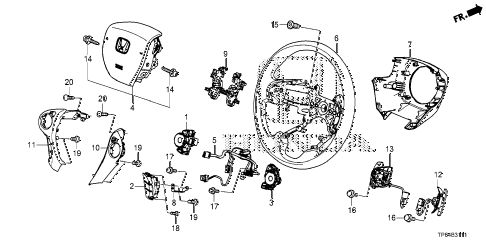 Lexus Condenser Assembly 8846160111 likewise Steering Rack End furthermore 96 Ford Ranger Manual Transmission Diagram together with Volvo V70 Steering Wheel together with View Honda Parts Catalog Detail. on honda crosstour