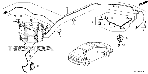 2013 civic EX(NAVI) 4 DOOR 5AT ANTENNA (2) diagram