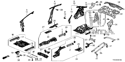 Post front Bumper Assembly Diagram 587501 in addition 2013 04 01 archive furthermore View Honda Parts Catalog Detail also 97 Chevy Blazer Steering Column Diagram together with Locking Headlight Bulb Retainer Ring. on honda civic frame diagram