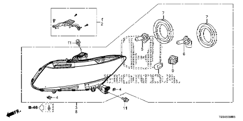 2012 civic DX 2 DOOR 5MT HEADLIGHT (1) diagram