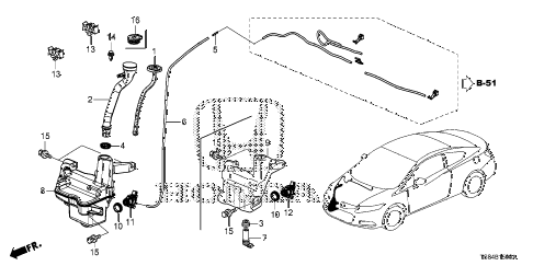 2012 civic DX 2 DOOR 5MT WINDSHIELD WASHER diagram
