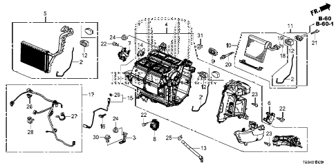 2012 civic DX 2 DOOR 5MT HEATER UNIT diagram