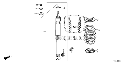 2012 civic DX 2 DOOR 5MT REAR SHOCK ABSORBER diagram