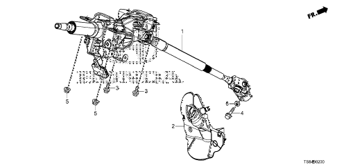 2012 civic DX 2 DOOR 5MT STEERING COLUMN diagram