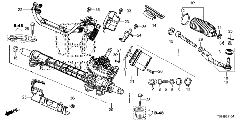 2012 civic DX 2 DOOR 5MT P.S. GEAR BOX (EPS) diagram