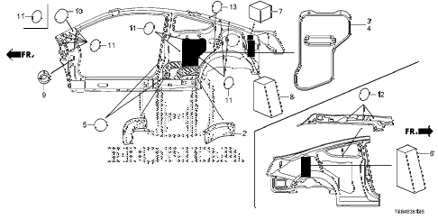 2012 civic DX 2 DOOR 5MT GROMMET (SIDE) diagram