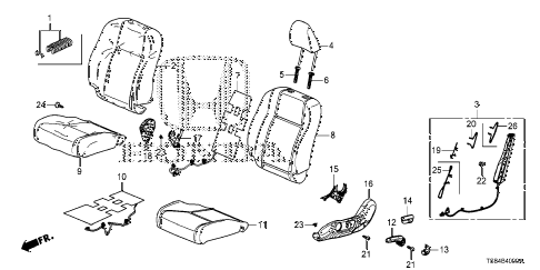 2012 civic DX 2 DOOR 5MT FRONT SEAT (DRIVER SIDE) diagram