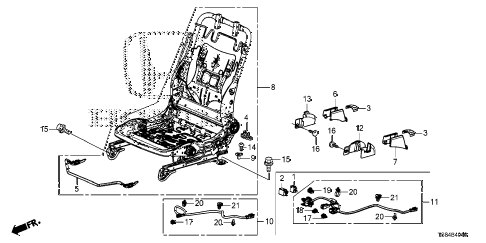2012 civic DX 2 DOOR 5MT FRONT SEAT COMPONENTS (DRIVER SIDE) diagram