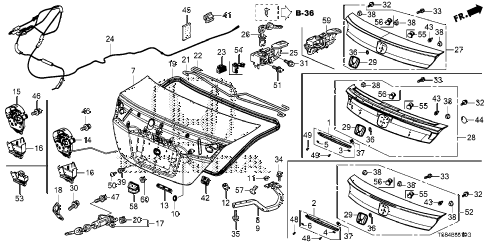 2012 civic DX 2 DOOR 5MT TRUNK LID (1) diagram