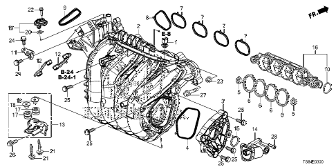 2012 civic DX 2 DOOR 5MT INTAKE MANIFOLD (1.8L) diagram