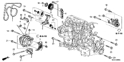 2012 civic DX 2 DOOR 5MT ALTERNATOR BRACKET (1.8L) diagram