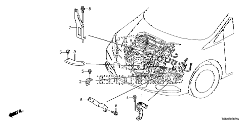 2012 civic DX 2 DOOR 5MT ENGINE WIRE HARNESS STAY (1.8L) diagram