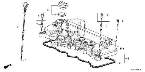 2012 civic DX 2 DOOR 5MT CYLINDER HEAD COVER (1.8L) diagram