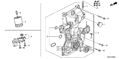 2012 civic DX 2 DOOR 5MT OIL PUMP (1.8L) diagram