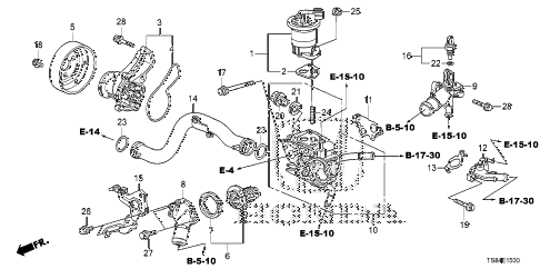 2012 civic DX 2 DOOR 5MT WATER PUMP (1.8L) diagram