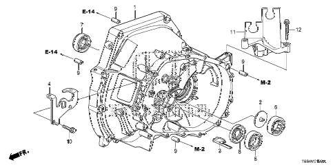 2012 civic DX 2 DOOR 5MT MT CLUTCH CASE (1.8L) diagram