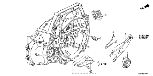 2012 civic DX 2 DOOR 5MT MT CLUTCH RELEASE (1.8L) diagram