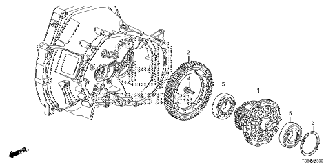 2012 civic DX 2 DOOR 5MT MT DIFFERENTIAL (1.8L) diagram
