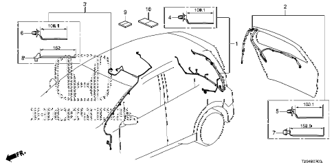 2014 fit STD 5 DOOR 1AT WIRE HARNESS (4) diagram