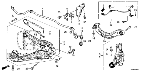2014 fit STD 5 DOOR 1AT REAR KNUCKLE diagram