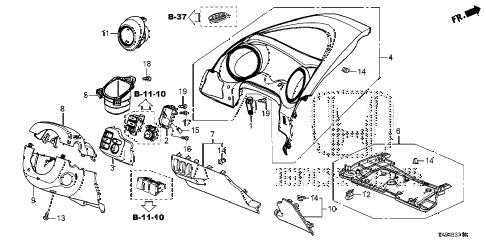 2014 fit STD 5 DOOR 1AT INSTRUMENT PANEL GARNISH (DRIVER SIDE) diagram